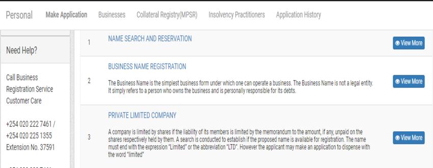 Business Registration System in Kenya